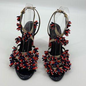 b9b8680904b7 Tory Burch Shoes - Tory Burch NWT Ambrosia Beaded Runway Sandal